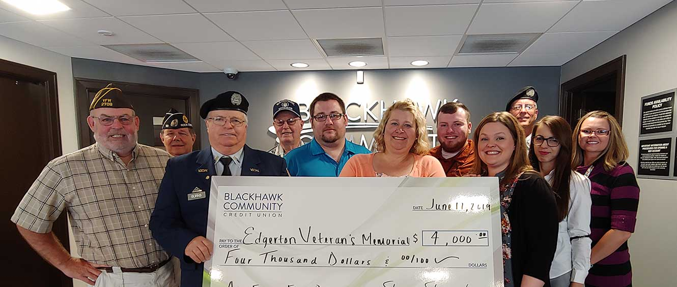 Blackhawk Community Credit Union gives back to the communities we serve