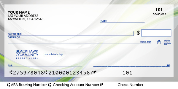Direct deposit check example